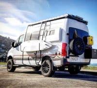 Owl Vans Mercedes Sprinter 2006-2018 Swing away Tyre carrier up to 35